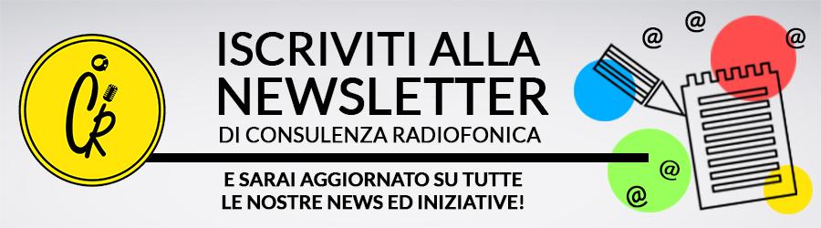 consulenza radiofonica newsletter